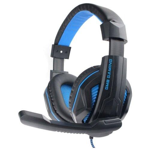 Компьютерная гарнитура Gembird MHS-G215 черный/синий mhs g500l