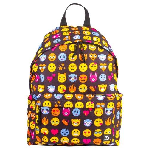 Купить BRAUBERG Рюкзак Смайлики (227105), разноцветный, Рюкзаки, ранцы