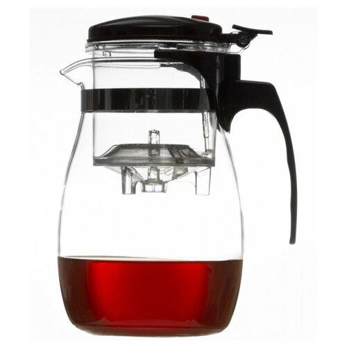 Чайная Компания Слон Чайник гунфу CH-828 1.5 л, прозрачный/черный