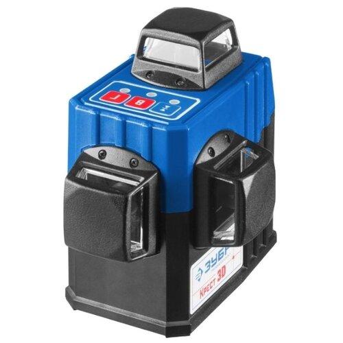 Лазерный уровень самовыравнивающийся ЗУБР Крест-3D (34908) правило уровень зубр 1075