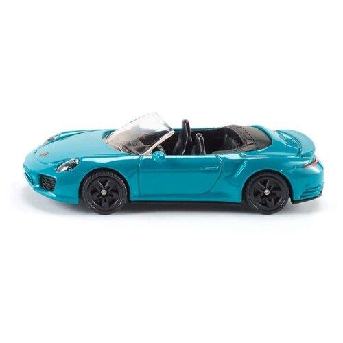 цена на Гоночная машина Siku Porsche 911 Turbo S Cabriolet (1523) 8 см голубой
