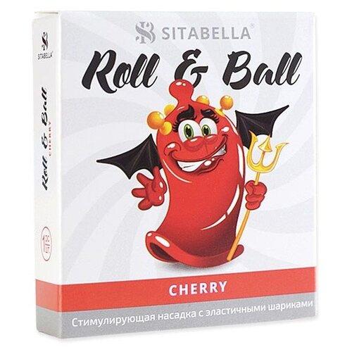 Фото - Стимулирующая насадка Sitabella Roll & Ball Cherry (1 шт.) стимулирующая насадка презерватив с усиками и шипами sitabella extender platino – ураган