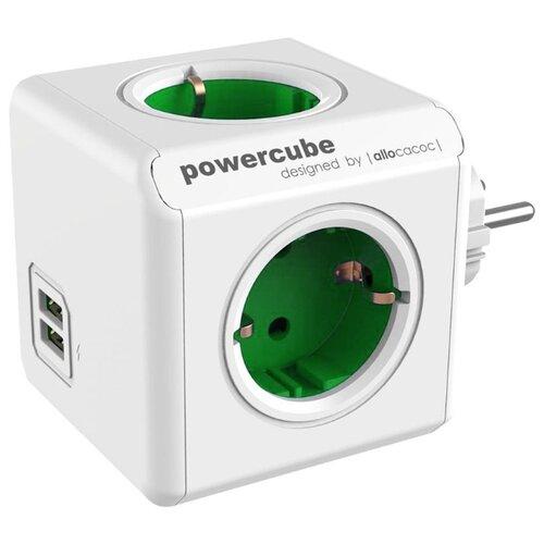 Фото - Разветвитель Allocacoc PowerCube Original USB 16 А зеленый разветвитель allocacoc powercube extended usb серый