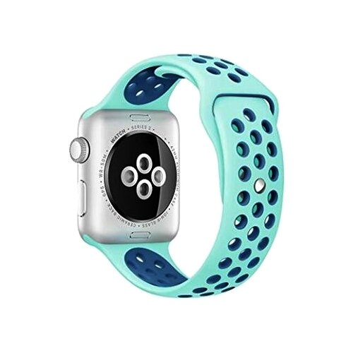 Фото - EVA Ремешок спортивный для Apple Watch 42/44mm голубой/синий eva ремешок спортивный для apple watch 42 44mm розовый