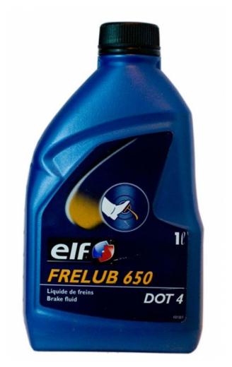 Тормозная жидкость ELF DOT 4 ELF FRELUB 650 1 л