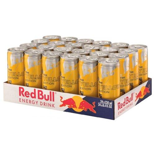Энергетический напиток Red Bull Tropical edition, 0.25 л, 24 шт. drive me энергетический напиток 0 5 л
