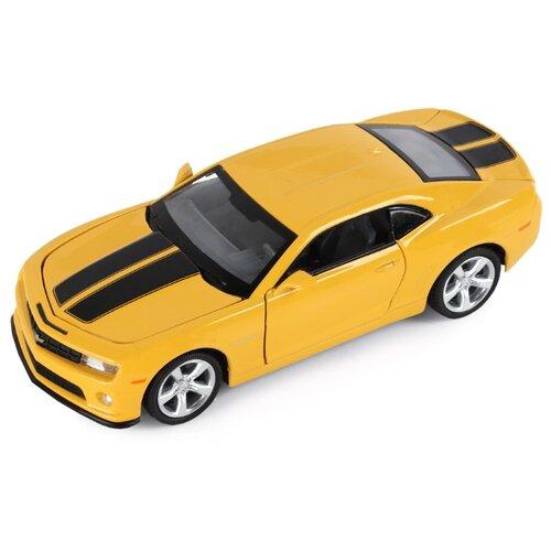 Купить Легковой автомобиль Автопанорама Chevrolet Camaro SS (JB1251155) 1:32 15.7 см желтый, Машинки и техника
