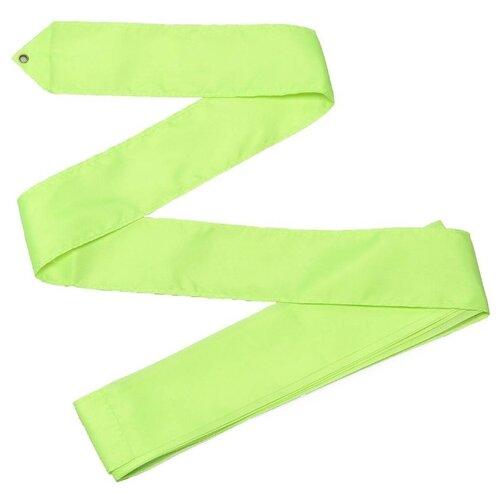 Палочка с лентой для художественной гимнастики Indigo СЕ4 лимонный