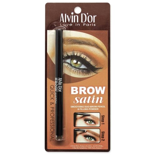 Фото - Alvin D'or карандаш+пудра Brow Satin, оттенок 02 dark brown alvin d or пудра скульптурирующая hd hollywod тон 02