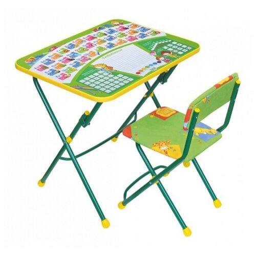 Купить Комплект Nika стол + стул Первоклашка (КУ1/12-13) 60x45 см зелeный, Парты и столы