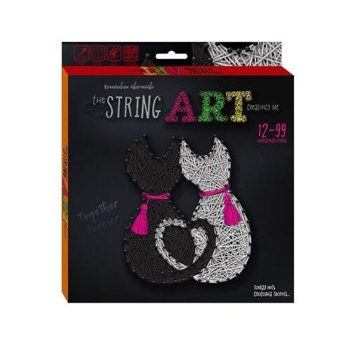 Купить Danko Toys Набор для творчества String Art Кошки (STRA-01-04), Поделки и аппликации