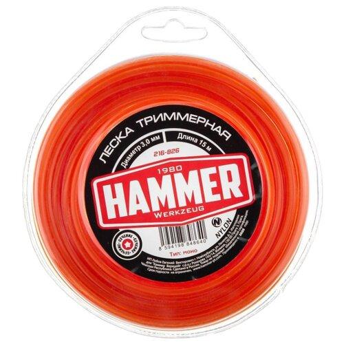 Леска Hammer 216-826 3 мм 15 м hammer 216 804 2 4 мм 15 м