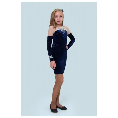Купить Платье Ladetto размер 42-164, темно-синий, Платья и сарафаны