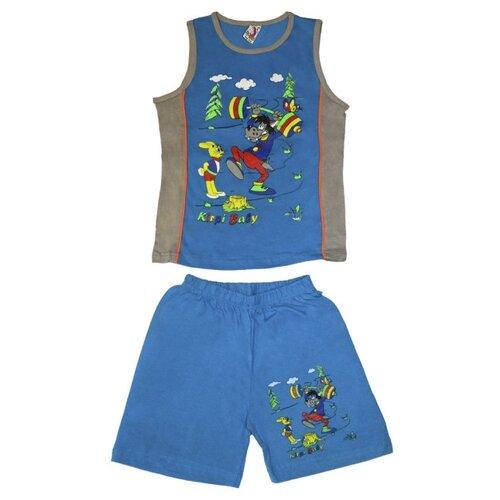 Комплект одежды Kirpi размер 116, голубой/серый