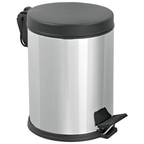 Ведро Efor Metal 1602, 5 л хром/черный