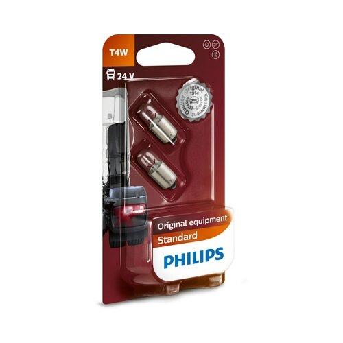 Лампа автомобильная накаливания Philips Standard 13929B2 T4W 24V 4W 2 шт. бактерицидная лампа philips tuv 4w t5 g4 871150063872427