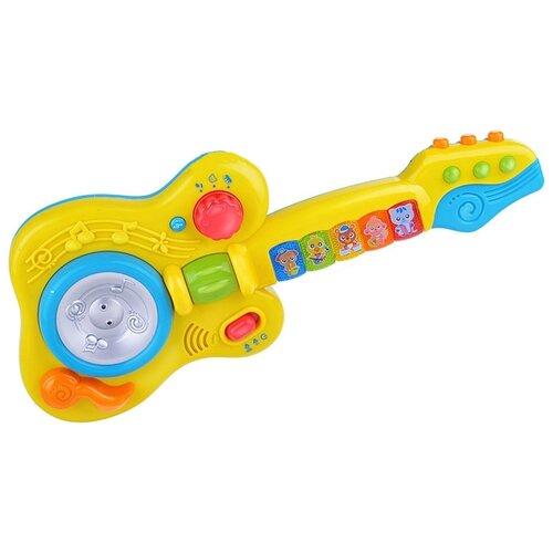 Купить Play Smart гитара 7319 желтый/голубой, Детские музыкальные инструменты