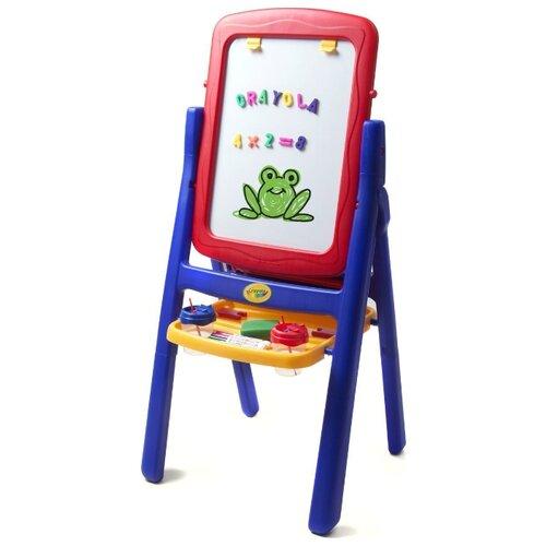 Купить Мольберт детский Crayola двухсторонний, с буквами и цифрами (5033-01) красный/синий, Доски и мольберты