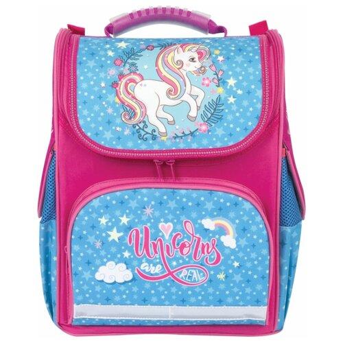 цена на BRAUBERG ранец Style Unicorn (228800), розовый/голубой