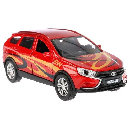Купить Легковой автомобиль ТЕХНОПАРК Lada Vesta SW Cross Спорт (VESTA-CROSS-S) 12 см красный, Машинки и техника