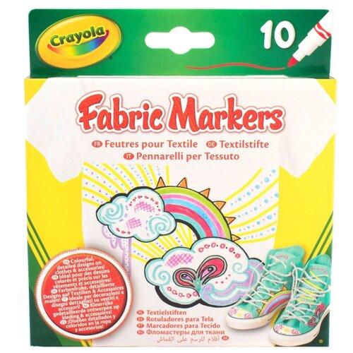 Crayola Набор фломастеров для ткани, 10 шт. (58-8633), Фломастеры  - купить со скидкой