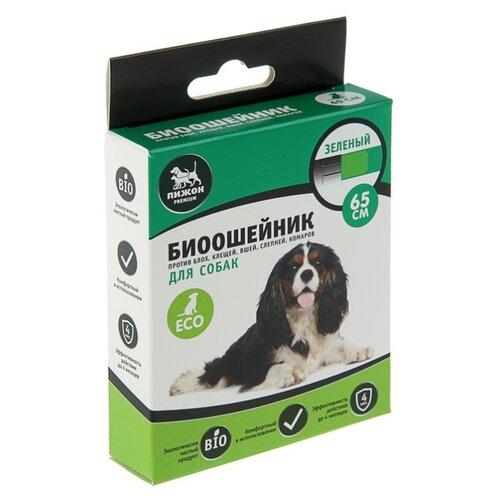 Пижон ошейник от блох и клещей Premium Bio для собак и щенков, 65 см, зеленый