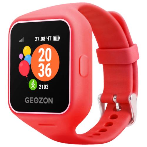 Детские умные часы c GPS GEOZON LIFE красный детские умные часы c gps geozon active розовый