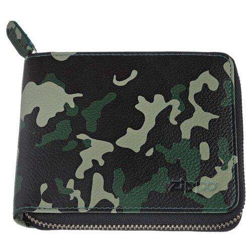 Фото - Кошелек Zippo, зелёно-чёрный, камуфляж, натуральная кожа, 12x2x10,5 см портмоне zippo серо чёрный камуфляж натуральная кожа 11 2x2x8 2 см