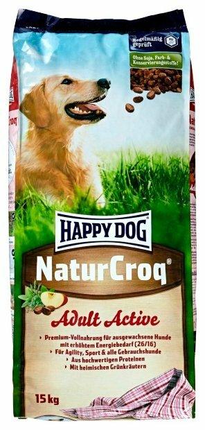 Корм для собак Happy Dog NaturCroq для активных животных 15 кг