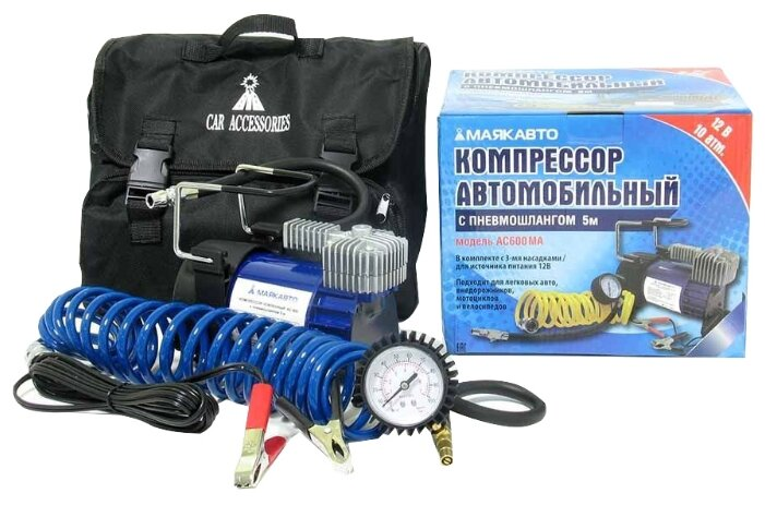 Автомобильный компрессор МАЯКАВТО AC600ma — в наличии, купить по выгодной цене на Яндекс.Маркете