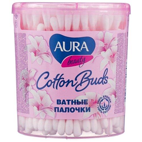 Ватные палочки Aura Beauty Cotton buds 200 шт. банка