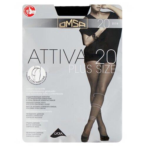 Колготки Omsa Attiva Plus Size 20 den, размер 6-XXL, nero (черный) колготки omsa attiva 20 den размер 2 s nero черный