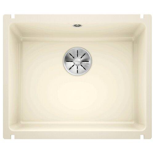 Врезная кухонная мойка 54.3 см Blanco Subline 500-U Ceramic PuraPlus InFino 523734 глянцевый/магнолия кухонная мойка blanco subline 500 u 514506