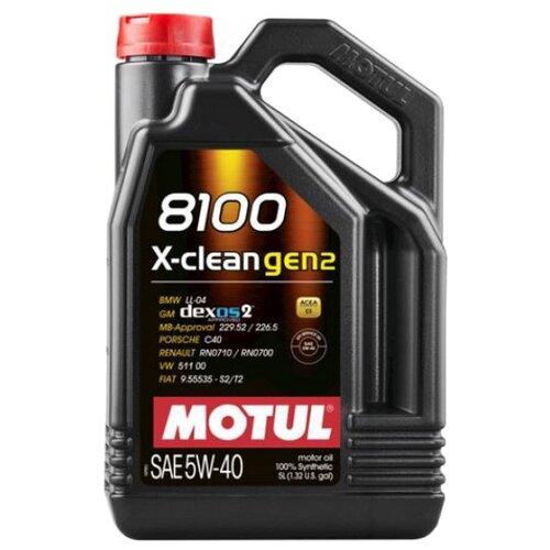 Моторное масло Motul 8100 X-clean GEN2 5W40 5 л