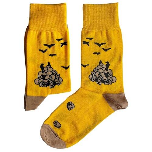 Фото - Носки St. Friday Апофеоз войны, размер 38-41 , желтый носки st friday египетская сила размер 38 41 белый коричневый желтый