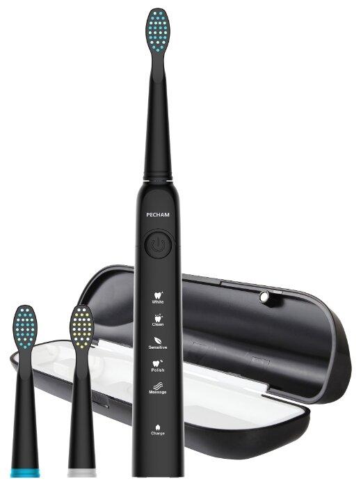 Звуковая зубная щетка PECHAM Black edition, черный
