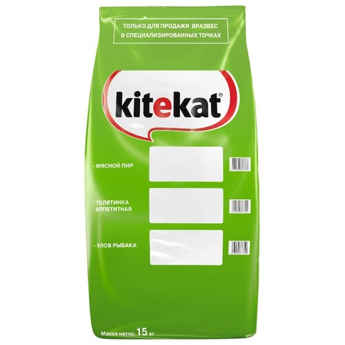 Фото - Сухой корм для кошек Kitekat Мясной Пир 15 кг kitekat мясной пир для взрослых кошек 1 9 1 9 кг