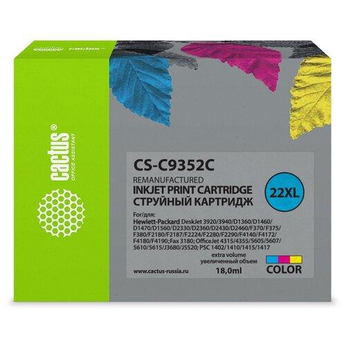 Фото - Картридж cactus CS-C9352C 22XL, совместимый картридж cactus cs cn054 933 совместимый