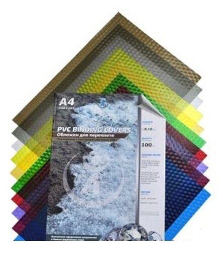 """Купить Обложечный лист А4 ПВХ """"Кристалл"""" 0,18 мм, зеленый прозрачный, 100 листов по низкой цене с доставкой из Яндекс.Маркета (бывший Беру)"""