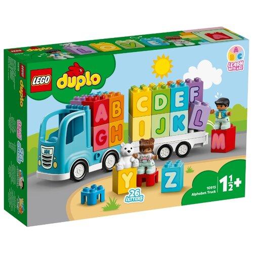 цена на Конструктор LEGO DUPLO 10915 Грузовик Алфавит