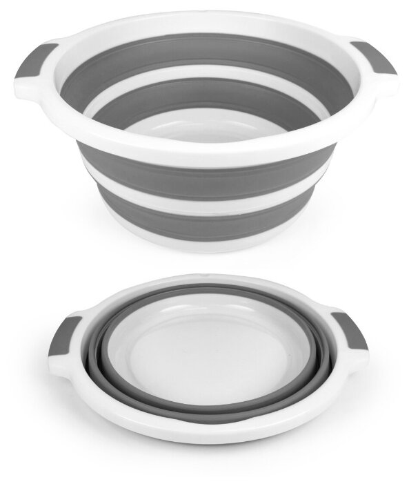 Купить Estares / Таз складной силиконовый 10 литров ES-BS-portable круглый, каркас пластик по низкой цене с доставкой из Яндекс.Маркета