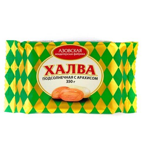 Халва Азовская кондитерская фабрика подсолнечная с арахисом 350 г
