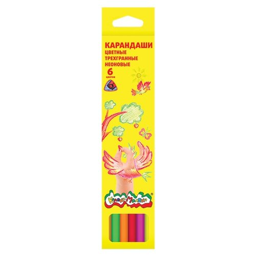 Каляка-Маляка Карандаши цветные неоновые 6 цветов (КТНКМ06)