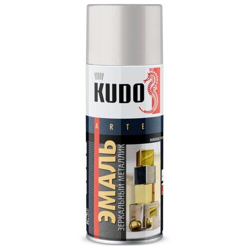 Эмаль KUDO универсальная зеркальный металлик Mirror finish хром зеркальный 520 мл