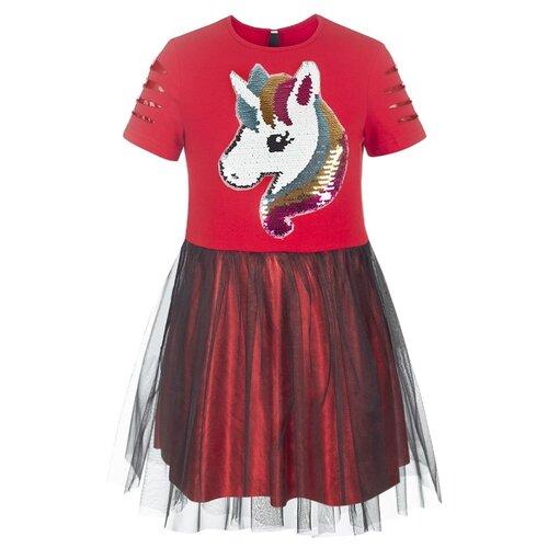 Платье Nota Bene размер 134, красный платье oodji ultra цвет красный белый 14001071 13 46148 4512s размер xs 42 170
