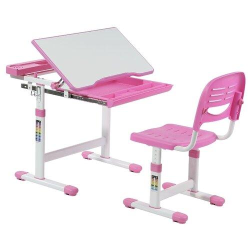 Купить Комплект FUNDESK стол + стул Cantare 66x49 см pink, Парты и столы