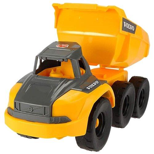 Фото - Грузовик Dickie Toys Volvo (3724001) 26 см желтый/серый погрузчик dickie toys дорожно погрузочная машина 3726000 35 см желтый белый