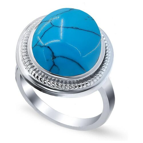 цена на Silver WINGS Кольцо с бирюзой из серебра 21set8928-113, размер 17