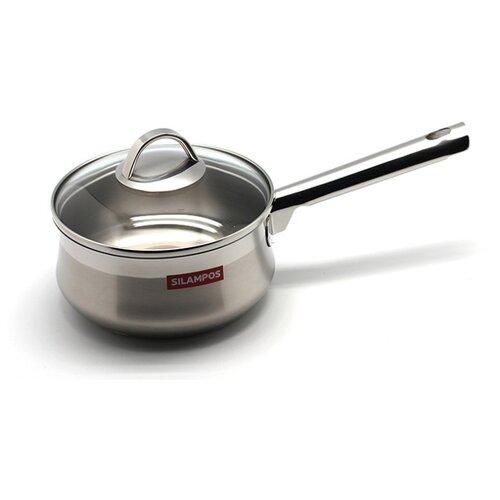 Фото - Сотейник Silampos Emotion 16 см с крышкой, серебристый сковорода silampos europa 24 см серебристый