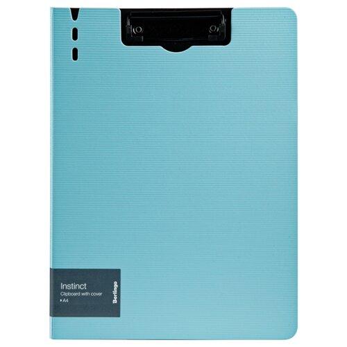 Купить Berlingo Папка-планшет с зажимом Instinct A4, полифом аквамарин/черный, Файлы и папки